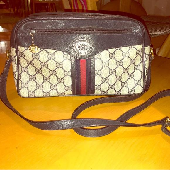 78f73d748584 Gucci Handbags - 🔗Vintage🔗Gucci 80s GG Monogram Crossbody Bag